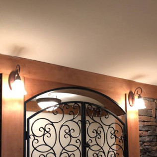 Interior Door Closure and  Wine Cellar Gate Project